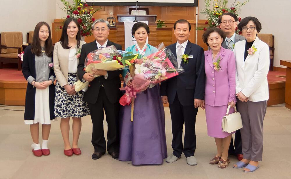 김인과 목사님 위임식/가네시마,하스모또 집사님 명예집사 취임식